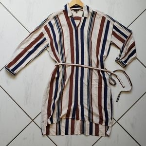 Topshop 💜 Midi Button Front Dress Shirt Belted